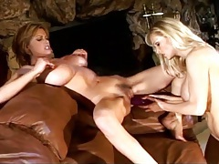 Dildos fuck hot lesbian pussies in a toy video tubes