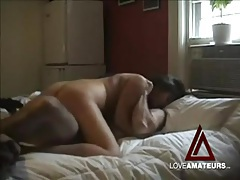 Girlfriend on top grinds hard on that dick tubes