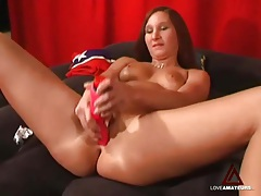 Red dildos for a sexy double penetration tubes