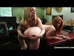 Nina hartley eats out a sexy young redhead tubes