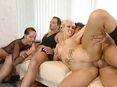 All holes fucking in a lusty lady foursome video tubes