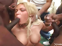 Pornstar anna nova in a lusty gangbang video tubes