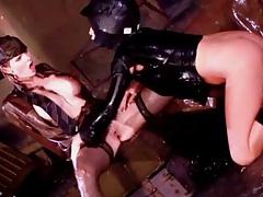 Soaking wet women have lesbo toy sex tubes