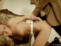 Pushing dick into tight ass of bound slut tubes