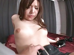 Munching pussy of sexy japanese girl in panties tubes