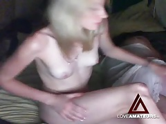 Skinny webcam slut banged and smokes a cigarette tubes