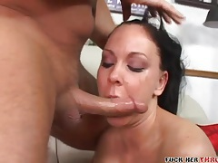 Rough blowjob and mouth fucking with a slut tubes