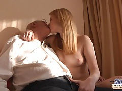 Horny redhead girl gets a sex sale from an old man tubes