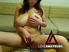 Voluptuous girl does a sexy webcam striptease tubes