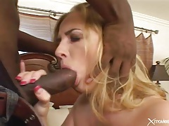 Black shaft fucks deep into a shaved pussy tubes