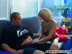 Blonde amateur girlfriend sucks and fucks with facial tubes