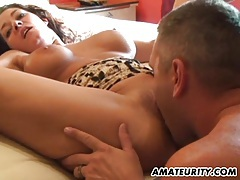 Busty amateur girlfriend home action with cumshot tubes