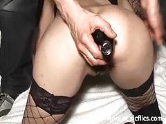 Extreme anal fisting and bottle fucked slut tubes
