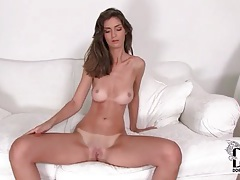 Fit girl has perfect tits and shaved pussy tubes