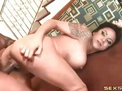 Tattooed whore laid in her asshole by bbc tubes