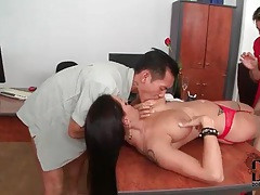Big breasted cocksucker in beautiful stockings tubes