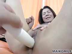 Fondling her big tits and fucking her cunt tubes