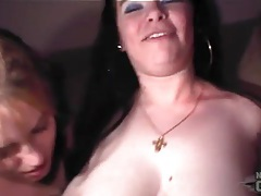 Party girls are happy to show tits and get filmed tubes