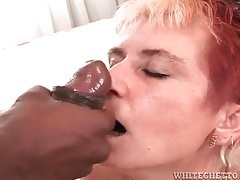 Black cocks cum on three sluts in compilation tubes