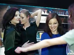 Party in a bar with naughty girl foreplay tubes