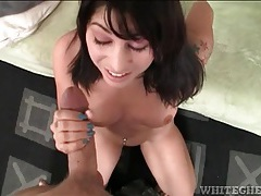Pov cocksucker sits bald pussy on him in pov tubes