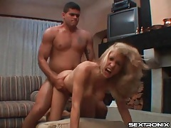 Thrilling doggystyle fuck with cumshot on ass tubes