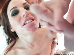 Good deepthroat blowjob and big sticky facial tubes