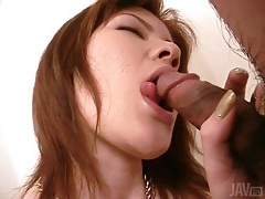 Cock licking and sucking japanese chick tubes