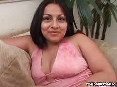 Big titty chick with pierced nips sucks dick tubes