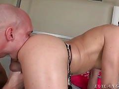 Tgirl takes sexy bareback ride on hard cock tubes