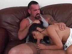 Elegant slut sucks a dick and he eats her pussy tubes