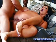 Big tits latina got a cream on anal tubes