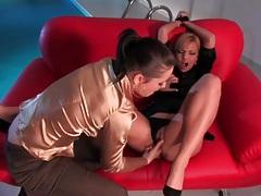 Finger fucking her lovely blonde lesbian lover tubes