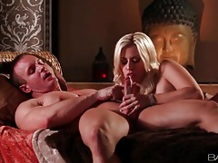 Blonde gives good head and he eats her out tubes