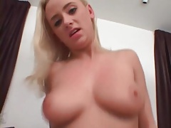 Cum on her face and tits after a nice handjob tubes