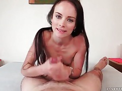 Skinny cocksucker gets facial in pov tubes
