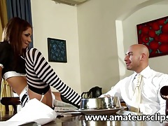 Sexy maid fucks her boss tubes