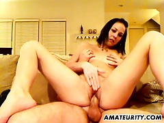 Naughty amateur girlfriend sucks and fucks tubes