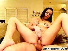 Naughty amateur girlfriend sucks and fucks tubes