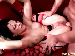 He makes rough anal porn with lingerie slut tubes
