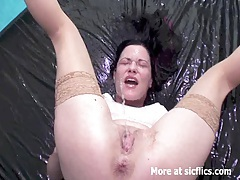 Fisting and pissing on the slutty wife tubes