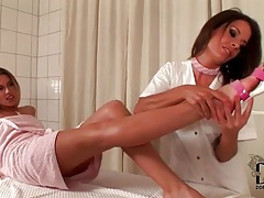Foot massage for cherry jul turns her on tubes