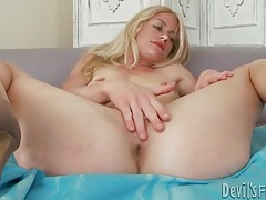 Skinny blonde models lingerie and hairy vagina tubes