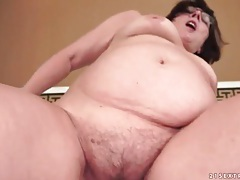 Mature wears glasses as she sucks and sits on cock tubes