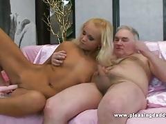 Blond slut pleases her mature lover tubes