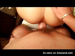 Beautiful girl doggystyle sex ends in creampie tubes