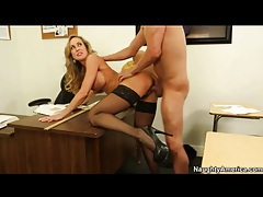 Milf brandi love in stockings and heels fucked tubes