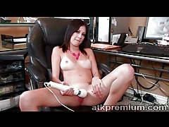 Perfect young tits girl masturbates cunt tubes