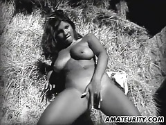 Very busty amateur girlfriend in action with facial tubes