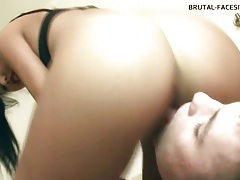 She drops her hot pussy on his face tubes